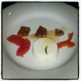 Top Chef Dinner with Hosea Rosenberg - Lemon Verbena Custard, Grapefruit, Pickled Grapefruit Rind, and Pine Nut Brittle