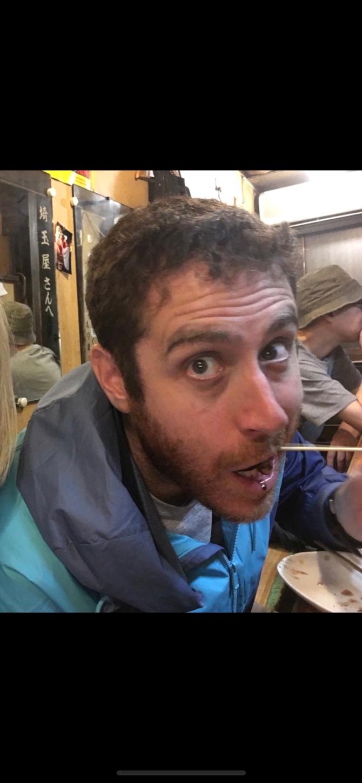 Eating Yakitori in Shinjuku, Toyko